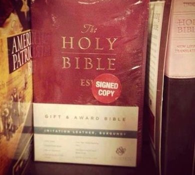 Signed Holy Bible