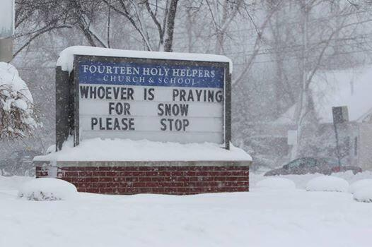 Prayer against snow
