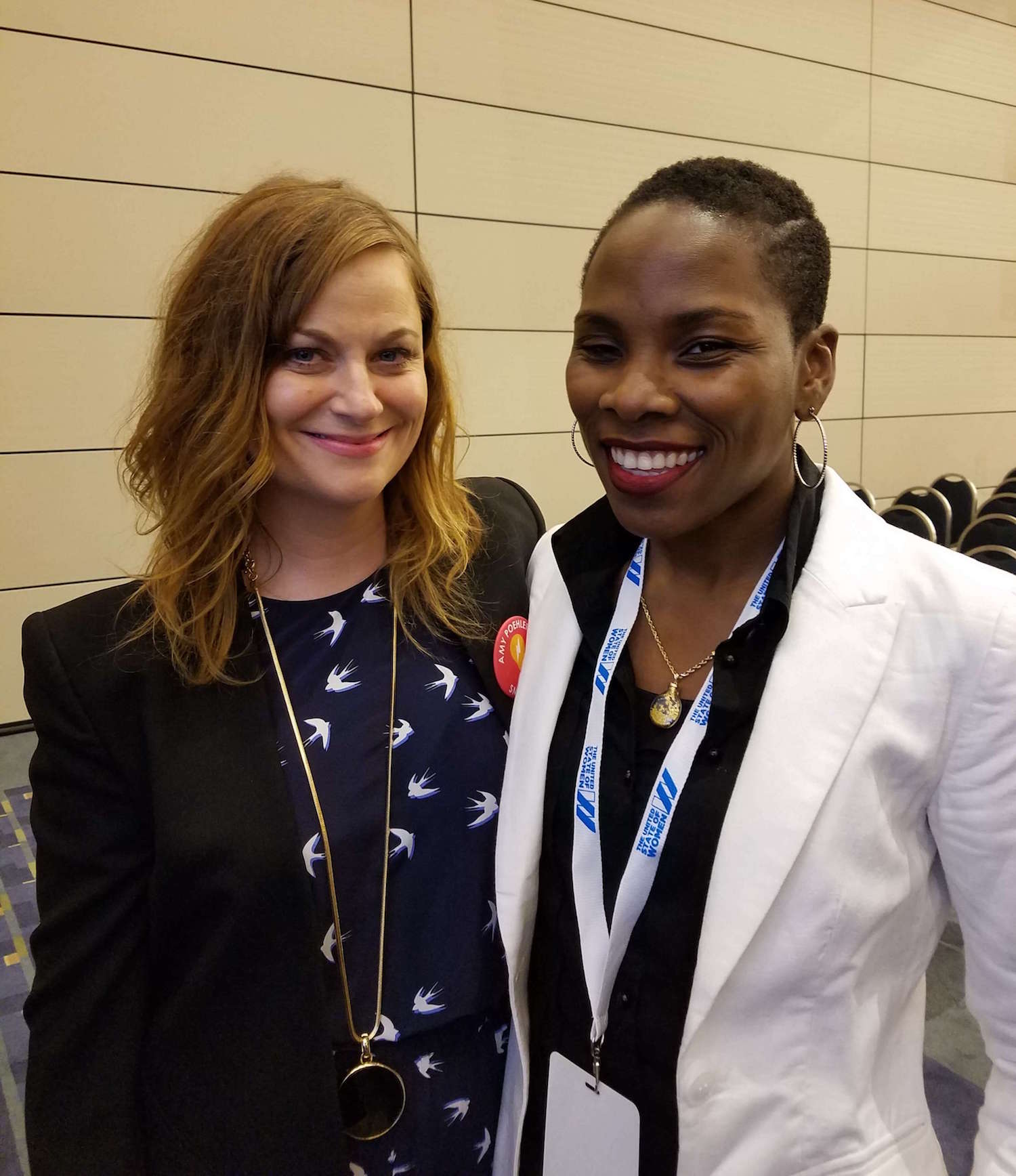 Luvvie Ajayi and Amy Poehler