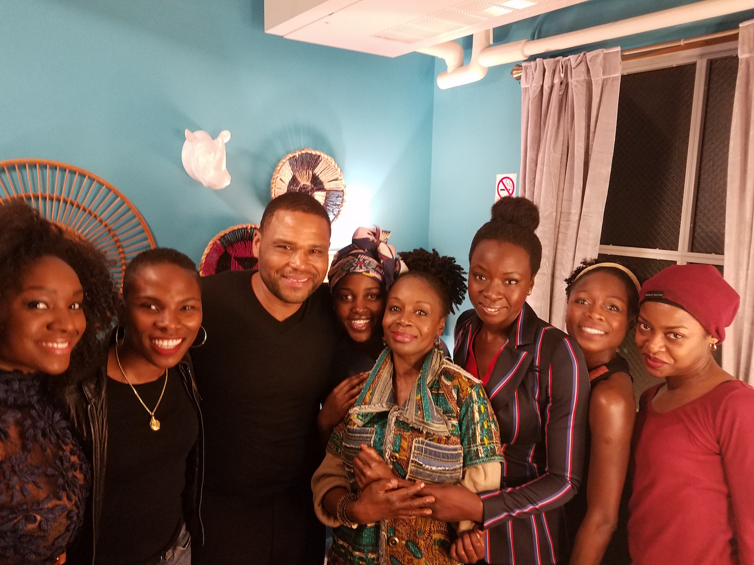 Luvvie with cast of ECLIPSED