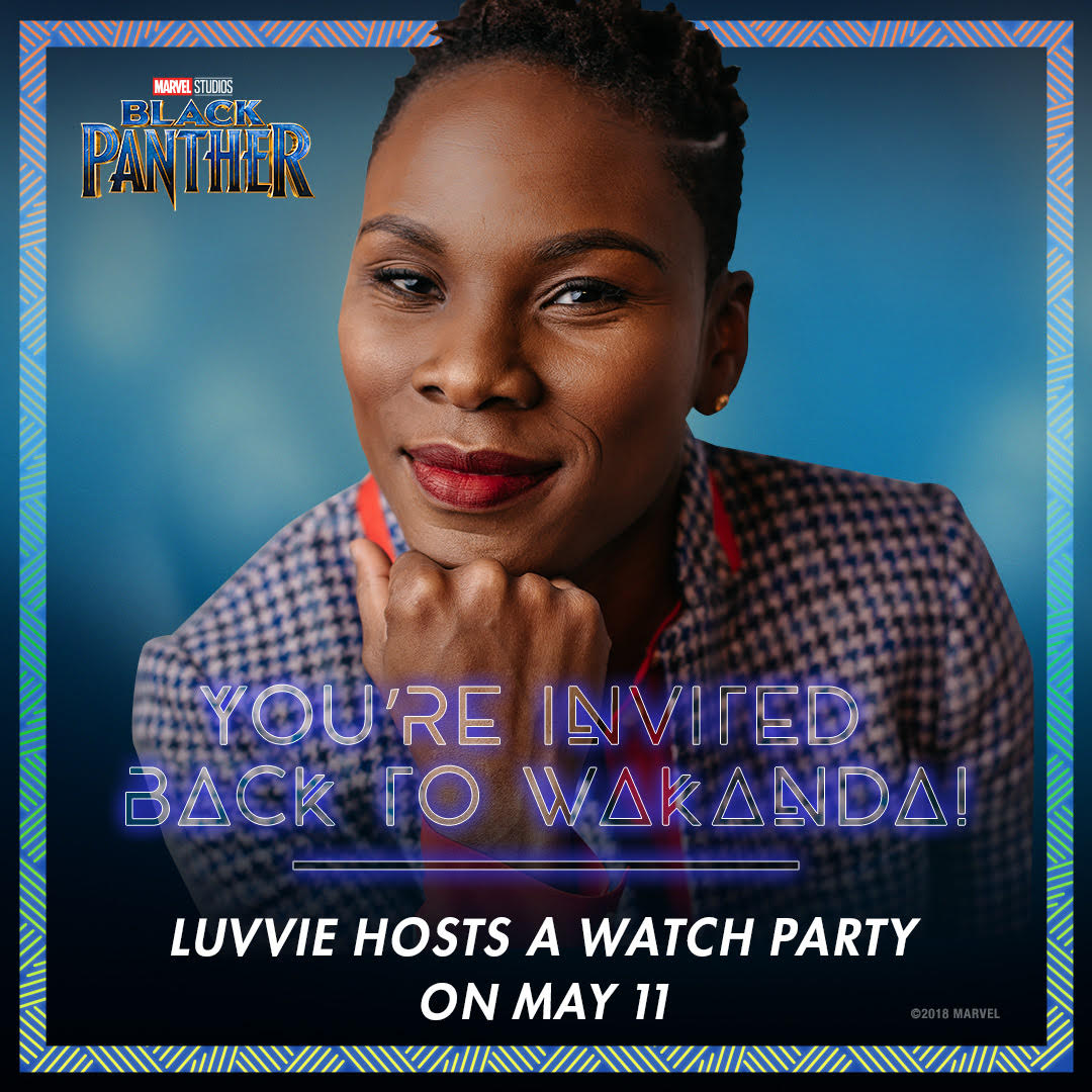 Luvvie Black Panther Wakanda Watch Party